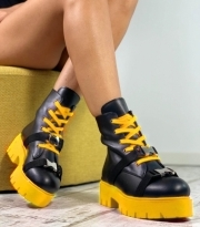 Ghete dama / Raisa Black & Yellow
