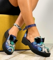 Sandale Dama / Calipso Snake Dark Blue