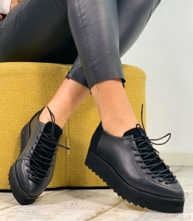 Pantofi Casual / Adonis Simple Black & PN