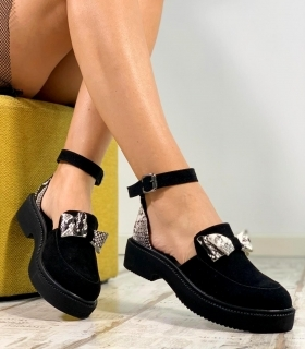 Sandale Dama / Calipso Black & Snake Bow